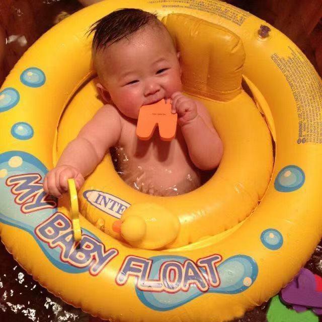 Collare Anello di nuotata del bambino di nuovo del bambino del collo anello anti-choke 0-6 anni la sede del bambino Anello Bambini anti-ribaltamento ascellare Lying
