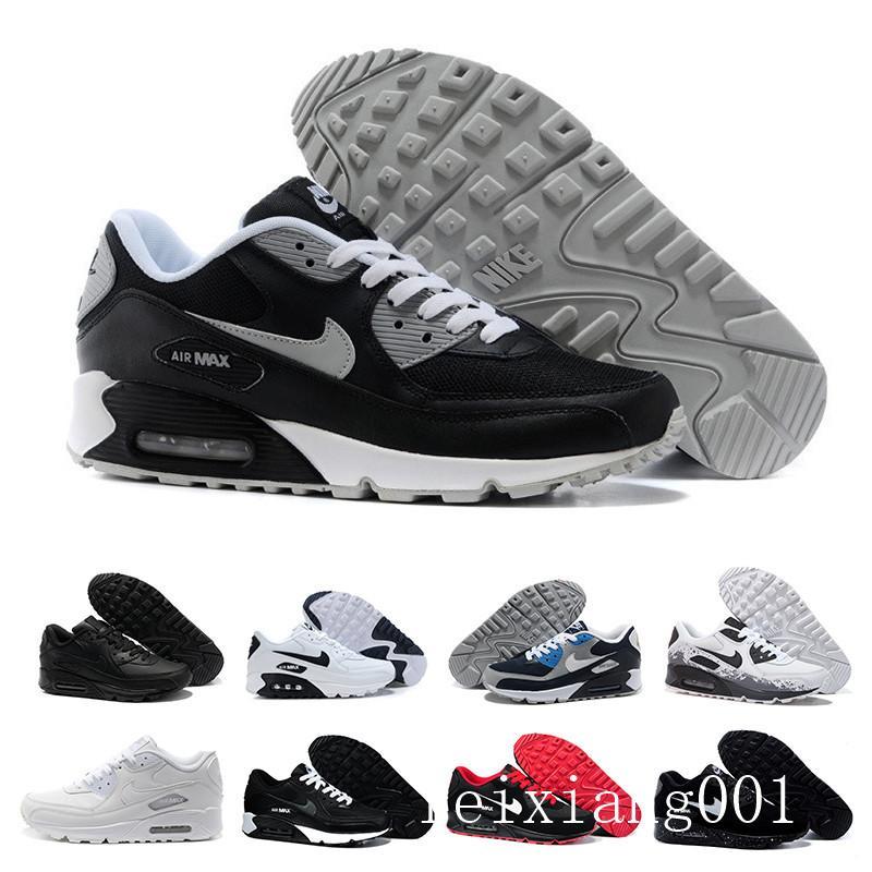 nike air max 90 90s airmax  High Quality 2019 Air Cushion 90 Casual Running Shoes Cheap Black White Red 90 Men Women Sneakers Classic Air90 Trainer Outdoor GTT-9