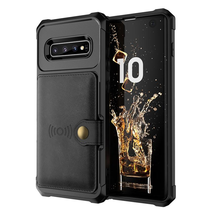 Magnetic Holder Slots Case Cover for Samsung Galaxy S10e PU Leather Flip Phone Case For Samsung Galaxy S9 S10 Plus Note 9