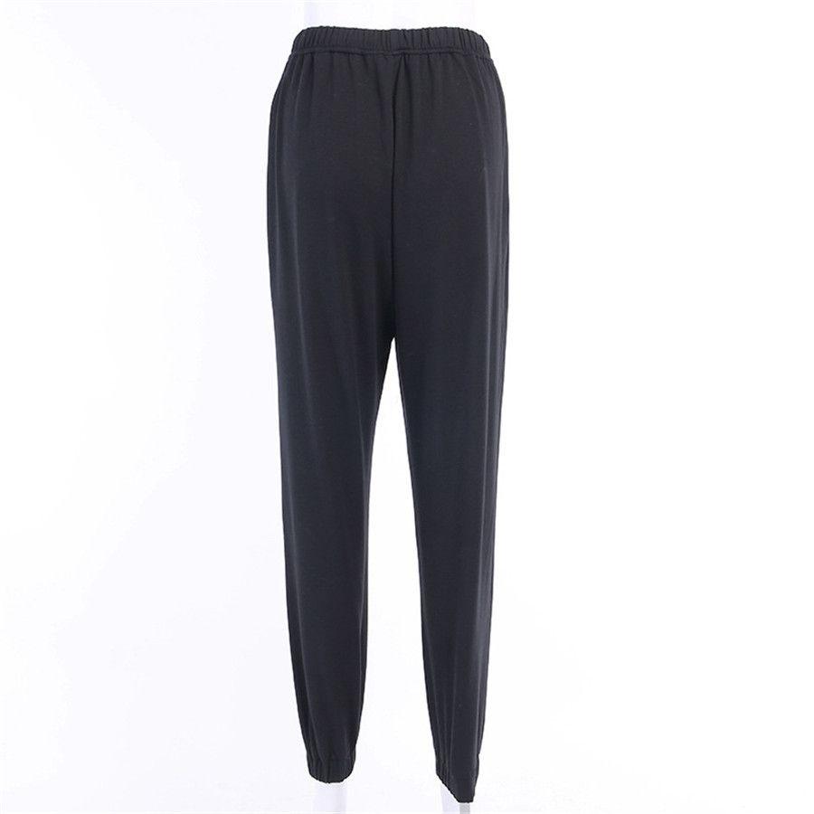 Streetwear lápiz de los pantalones de las mujeres de Blingbling brillante de alta cintura del estiramiento de seda del hielo impresión de la luna polainas pantalón Pantalon Femme Q8 Y200418 # 611