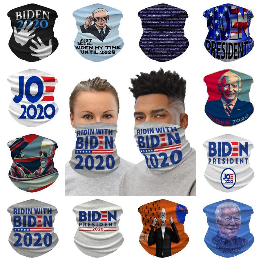 Biden Equitazione Mask 14 stili Biden 2020 Flags ghiaccio seta della bicicletta della bici sciarpa magica Fasce Bandane Maschera OOA8231