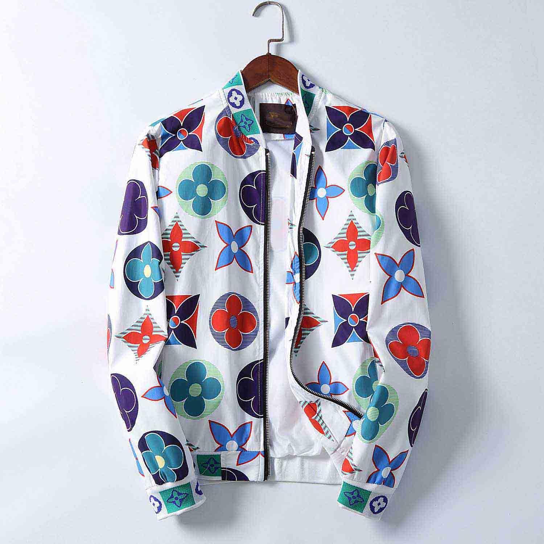 20ss europea marchio di moda maschile autunno stazione Medusa moda giacca giacca supporto sciolti collare cardigan degli uomini casuali della chiusura lampo cappotto degli uomini