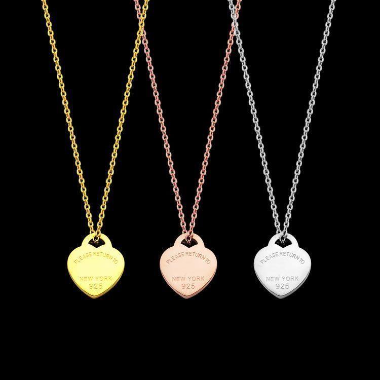 Z48 kalp şekli şanslı tarzı kolye kolye aşığı kadın Fabrika toptan 18K altın kaplama aşk sıcak takı logosu TT marka en kaliteli sahip