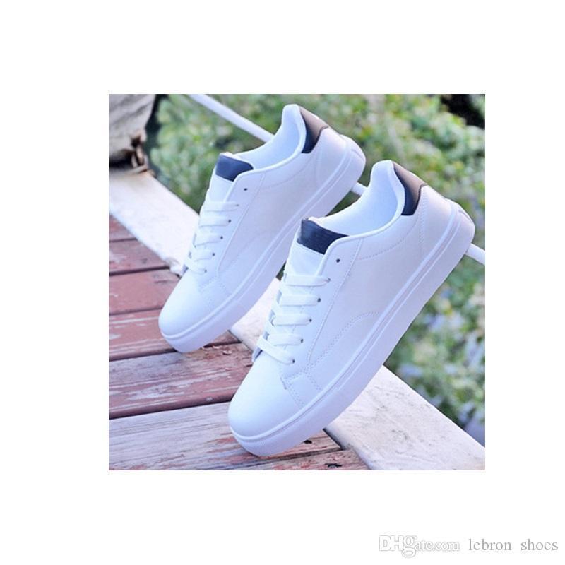scarpe bianche Autunno Whosale scarpe da skateboard scarpe sportive giovanili versione coreana maschile degli uomini del trend di studenti uomini piatte