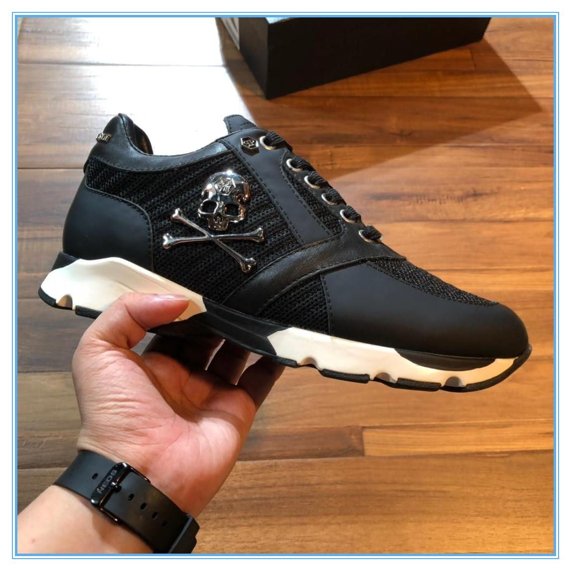 2019 nueva moda suela gruesa plataforma zapatillas hombres vulcanizar zapatos hombre Color mezclado hombre Casual zapatos Creepers hombres zapatillas F3-96