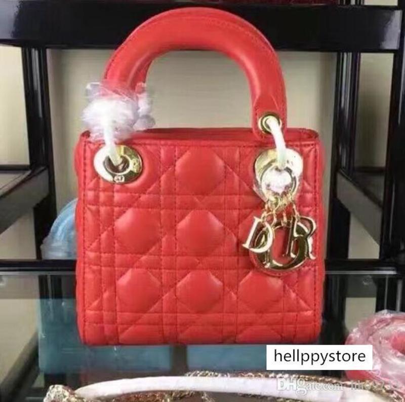 2019 3 griglia ragazza dolce catena di borsa tracolla diagonale di lusso messaggero del raccoglitore della signora size17 15 * 8