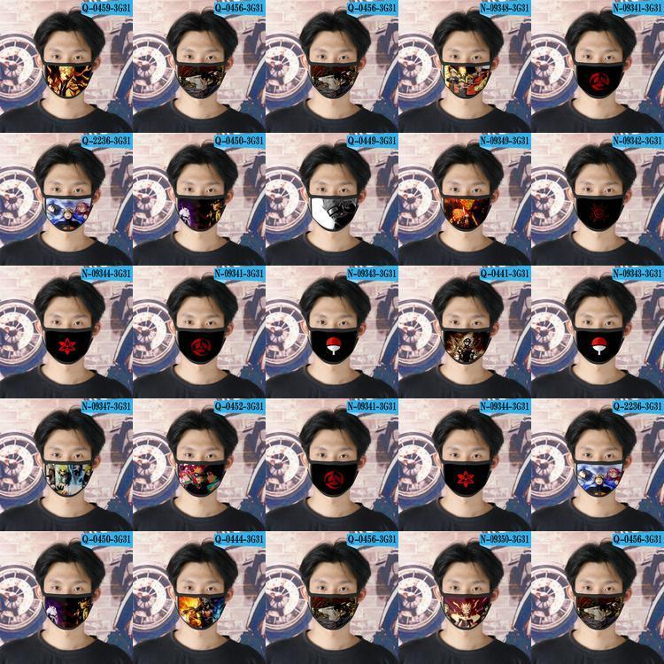 Tapabocas Fu fille visage 04 Naruto Fu Masque Cubrebocas Naruto visage Cartoon réutilisable Masque Designer Pour iPnfp home2009