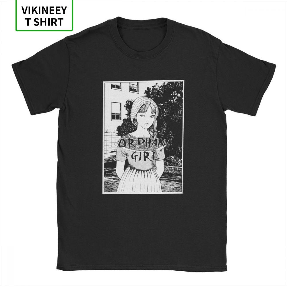 Junji Ito Camisetas 100% algodón adelgazan la camiseta Tomie japonesa Kago manga de terror de los hombres de Tomie de Harajuku T Shirts de manga corta