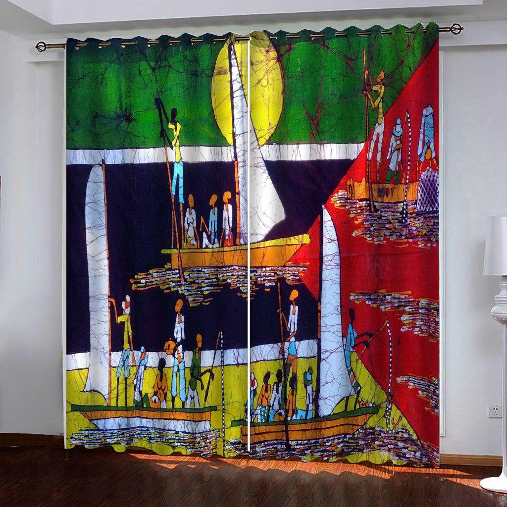 Costumbre 3d cortinas de color foto velero 3d para cortinas cortina de salón estilo europeo y americano