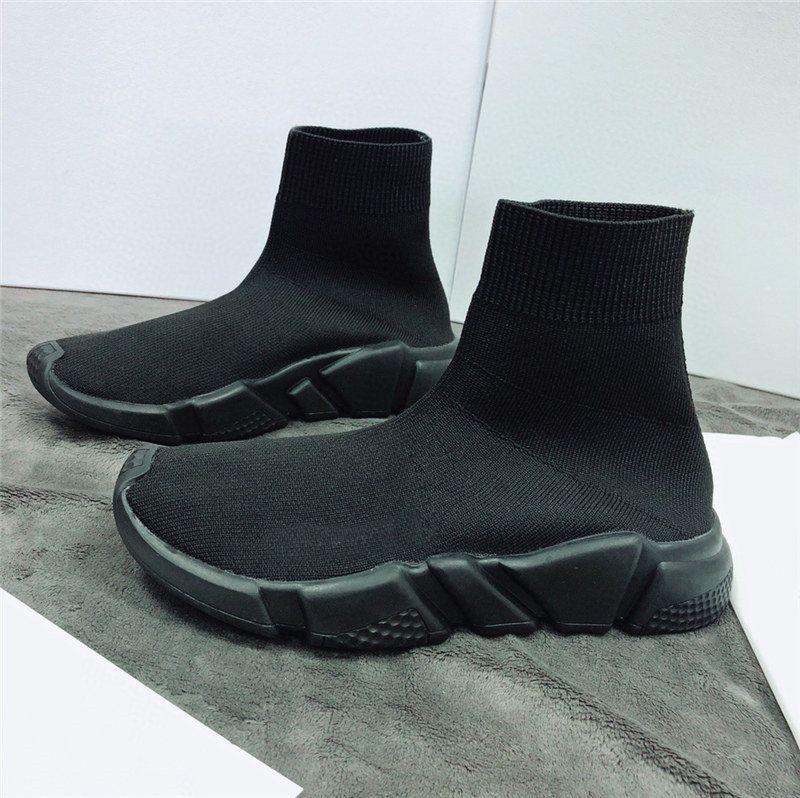 Nuovo calzino del pattino di Speed Trainer traspirante scarpe da ginnastica Speed Trainer calzino Runners razza nera Scarpe Scarpe uomini e donne di sport 35-45 lts1