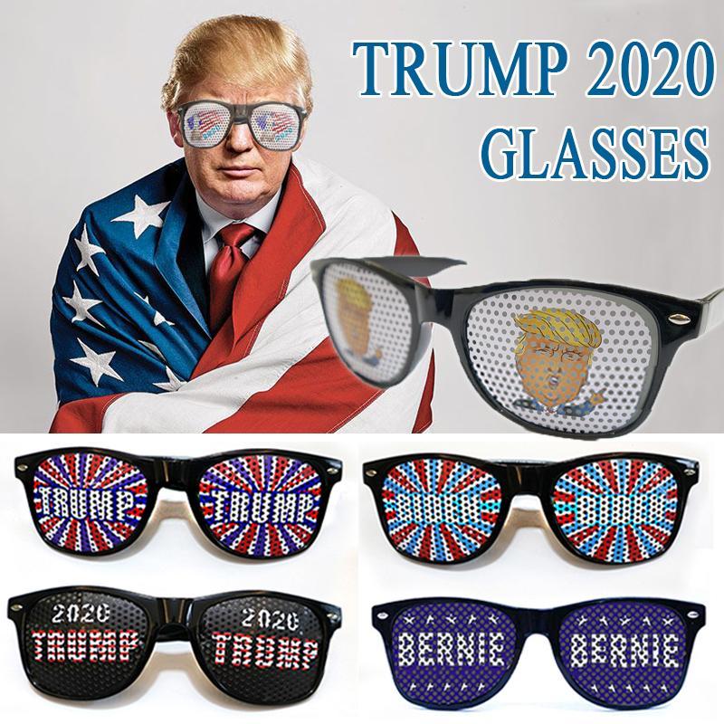 Lustige Stile Präsident 2020 Liefert 9 Gläser Festival Wahlfeste Flagge Große USA Donald Trump Amerika Party Sonnenbrille Patriotisch GI Oett