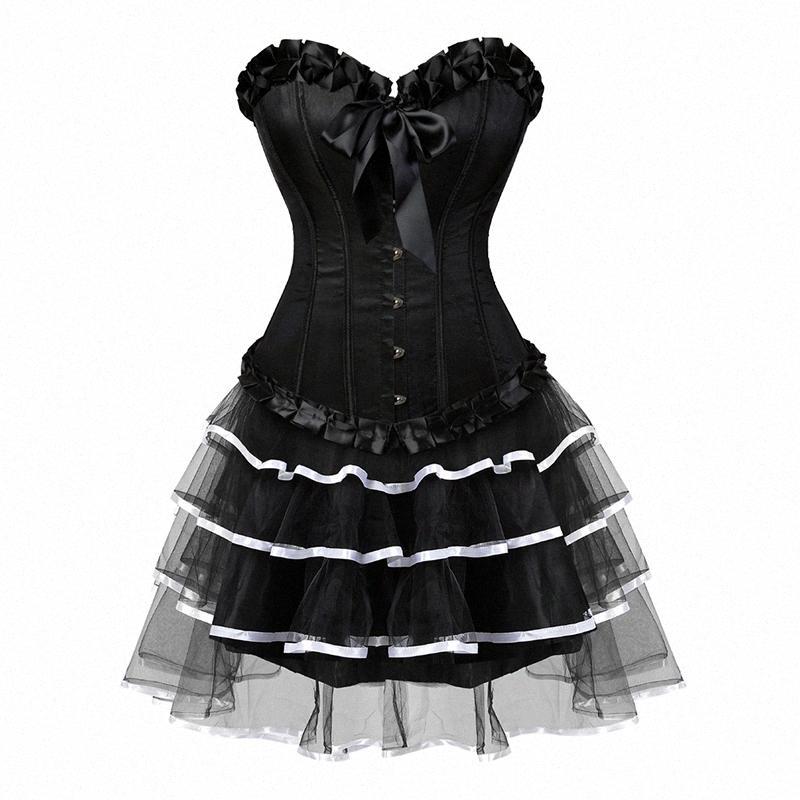 Frauen-reizvolles Korsett New Formkörper eng anliegend Spitze-Rand dünnen Korsett Female Body Shaping Bustiers Kleid 26997017 5Pha #