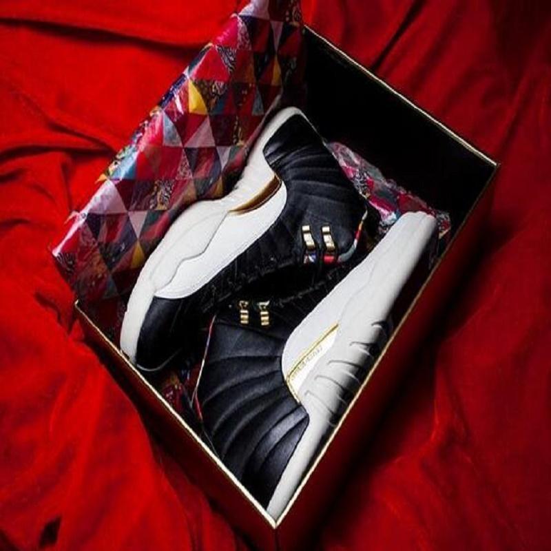 Siyah Oyun Kraliyet 12 12s basketbol ayakkabıları jumpman Fiba Gama Mavi Paris CNY Nezle Oyun kanatlar mens spor ayakkabılar eğitmen