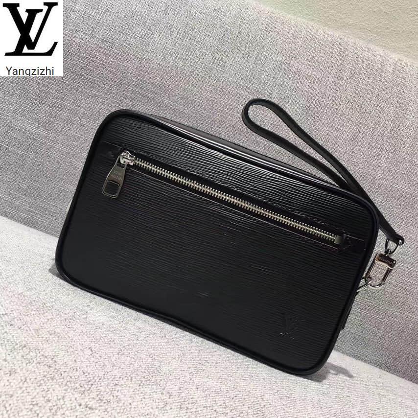 Yangzizhi New Black Water Ripple Kasai Men's Handbag M51726 Long Wallet Chain Wallets Compact Purse Clutches Evening Key