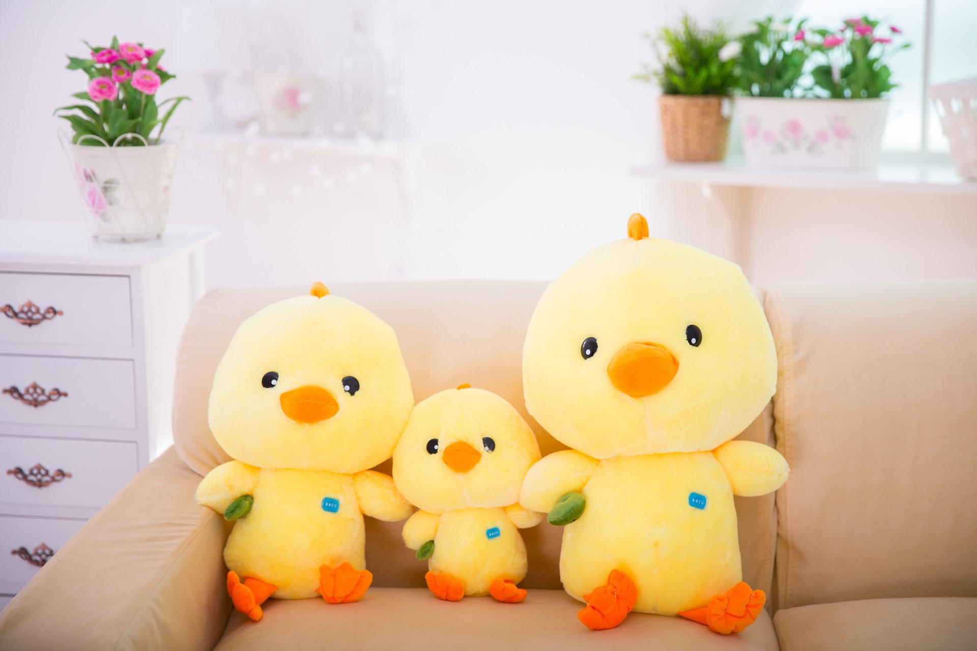 Kuss Cute Little Yellow Chicken Nettes Huhn Puppe Eltern-Kind-Baby-Huhn Plüschtiere Großhandel