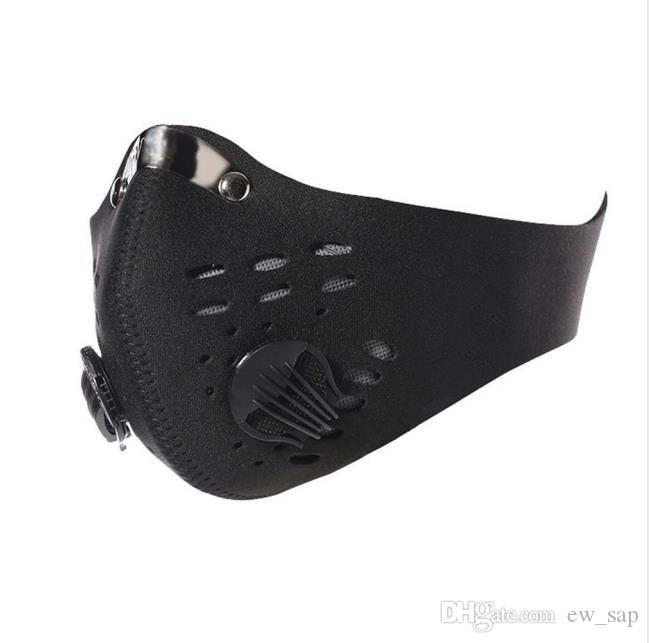 Dustproof cara de bicicleta Máscara PM2.5 Filtro Dois Exhale Válvulas Boca-Muffle Poeira máscara máscaras Bicicleta Desportos capa protetora