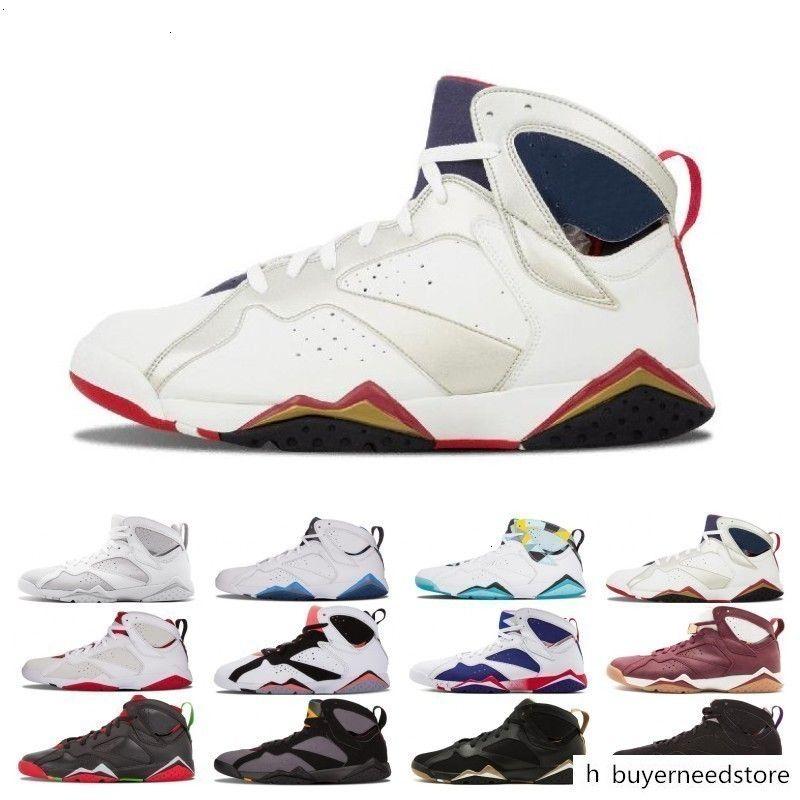 Yüksek 7 7s Raptor Bordo Hare Tinker Alternatif Jumpan Erkekler Basketbol Ayakkabı Fransız Mavi Triko UNC GMP Olimpiyat Sneakers