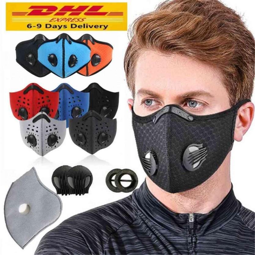 Máscara dos EU Stock Ciclismo face Carvão Ativado com filtro PM2.5 Anti-Poluição do esporte que funciona Máscara Formação MTB Estrada Proteção bicicleta poeira