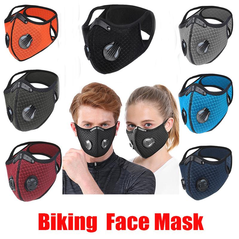 New Biking Anti Dust Bike Face Mask Activated Carbon Riding Cycling Running Cycling Anti-Pollution Activated Carbon Mask With Filter OPP Bag