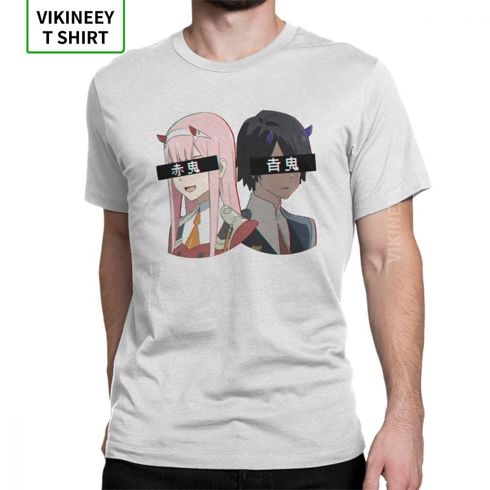 Hommes Aka Oni et Ao Oni Darling Le Franxx Zéro Deux T-shirt à manches courtes vêtements 100% coton T-shirts coupe classique T-shirts