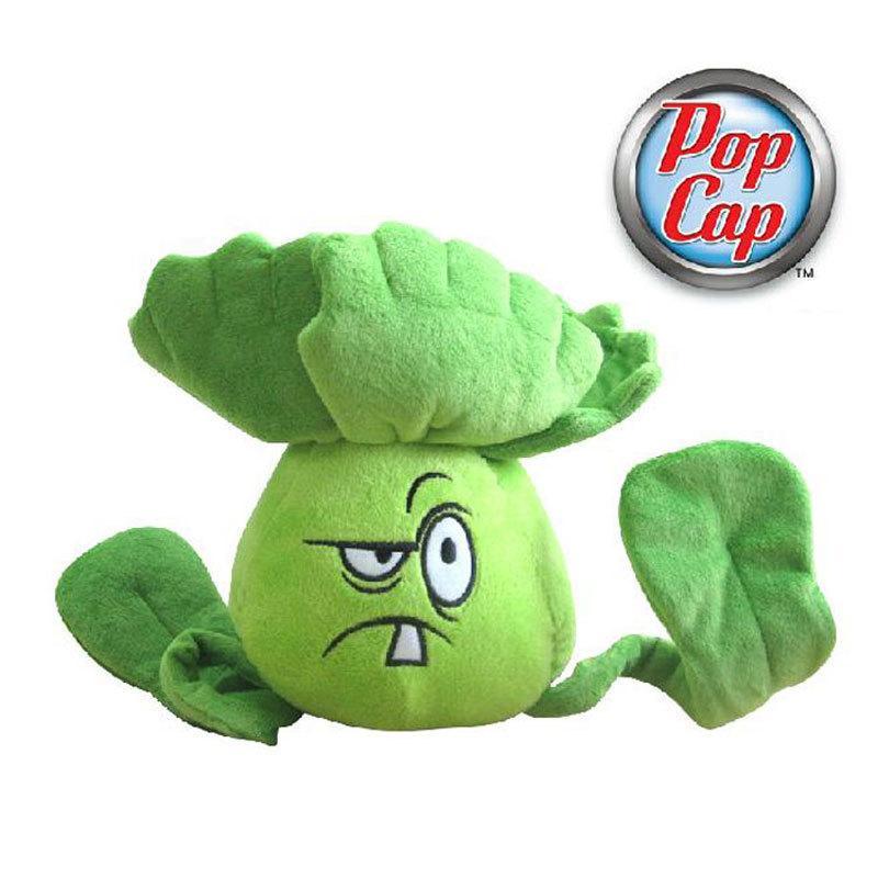 Star Product 12inch 30cm Lovely Plant Vs Zombies PopCap Bonk Choy Plush Toys,1pcs/pack MX200716