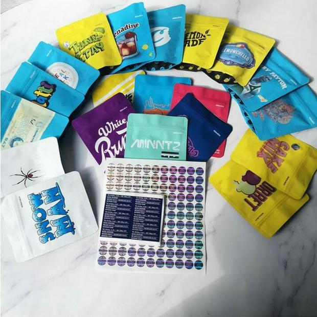 BISCOITOS Mylar para crianças sacos de embalagem Connected cookies saco da flor bolsas Package Small Size Cheiro Proof Bag E Cig Caso Vape Carrying tMUKp