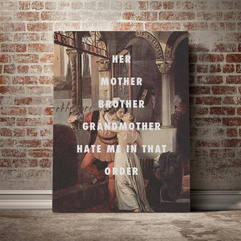 Prints Painting Wall Woman Artwork Kiss Modular Man Canvas Poster Character Picture Modern Classical Home Decor For Living Room