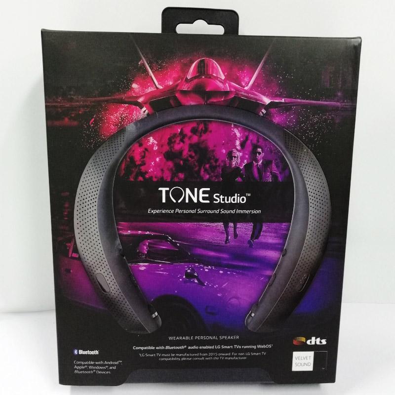 오디오와 톤 스튜디오 블루투스 넥 밴드 헤드폰은 경험 개인 서라운드 사운드 집중 TM LG-HBS-W120-V1 무료 선박을 사용