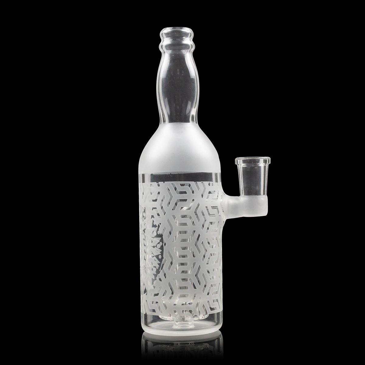 Nueva 7 pulgadas de agua blanca pelele Bong 14mm Grueso Mujer Botella Bong Dab Rig Rig Bong Aceite Con accesorios de fumar