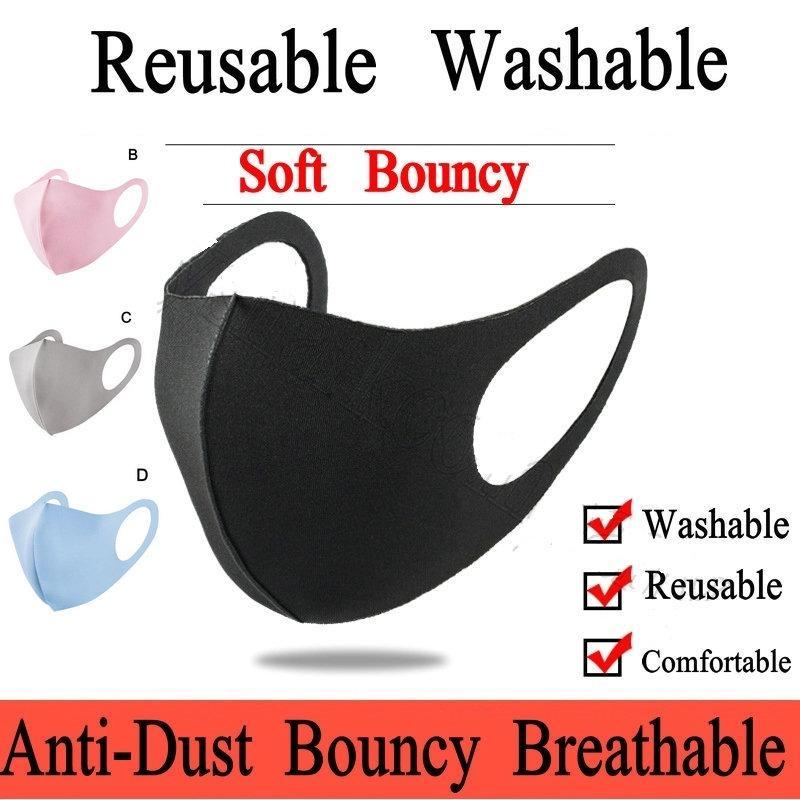 Reusable Ice Silk Cotton Masks Adult Kids Masks Anti-Dust Cover PM2.5 Respirator Dustproof Anti-bacterial Washable Designer Face Mask