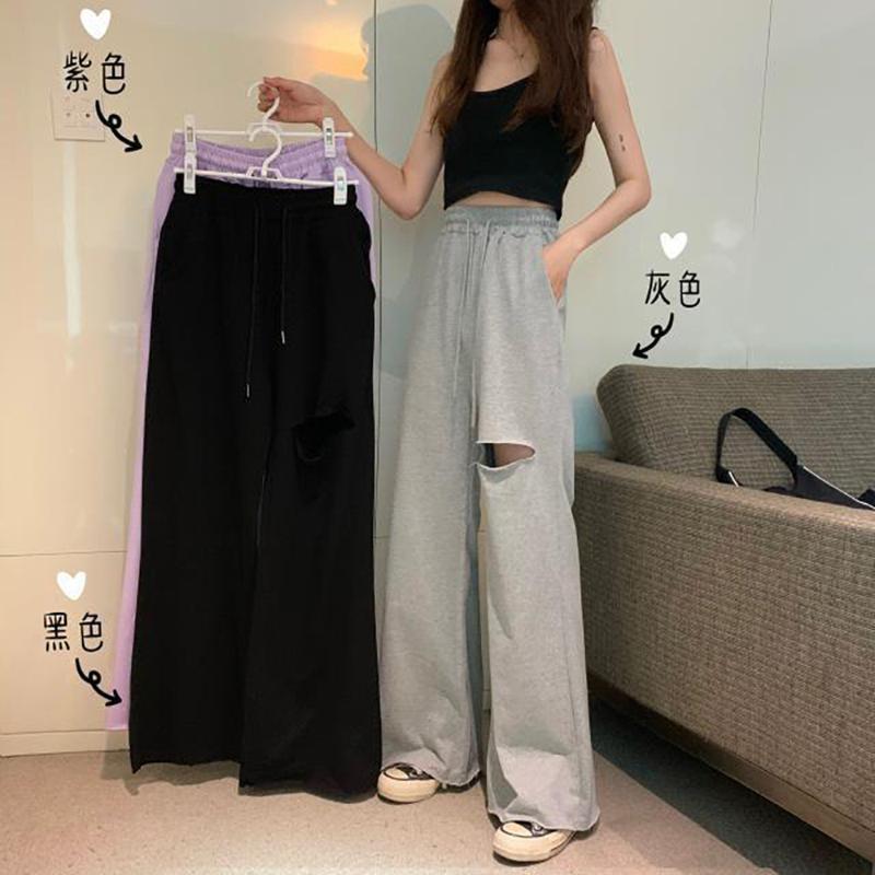 여성용 바지 카프리스 블랙 루즈 플러스 사이즈 패션 소녀 거리 스타일 여성 스웨트 여성 Streetwear Pantalon Femme Pantaloni Donna