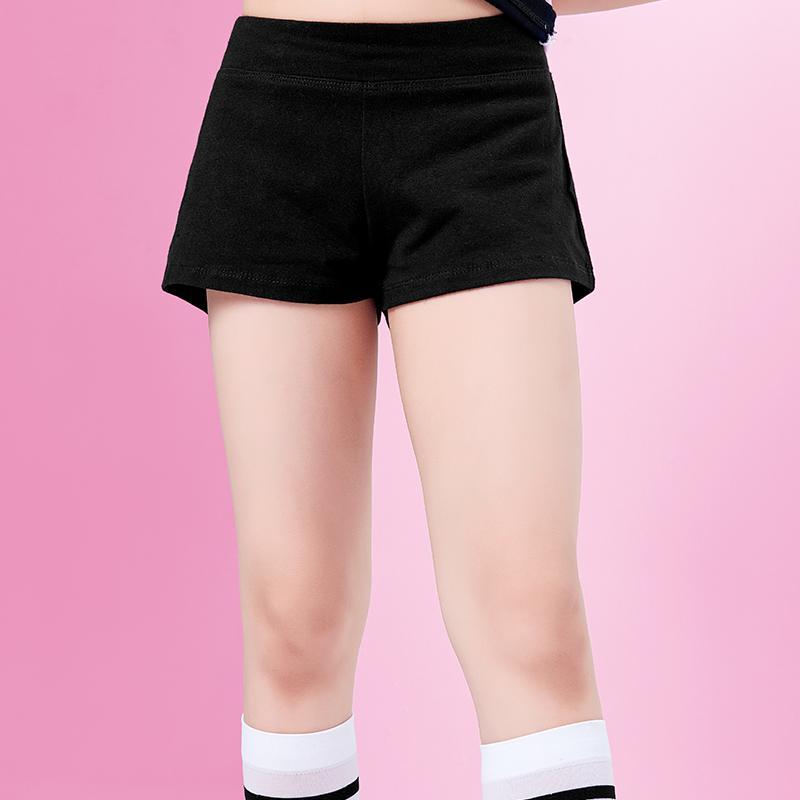 Sahne Giyim Kızlar Dans Şort Fitness Yoga Kısa Pantolon Spor Çocuk Giysileri Siyah Pamuk Külot