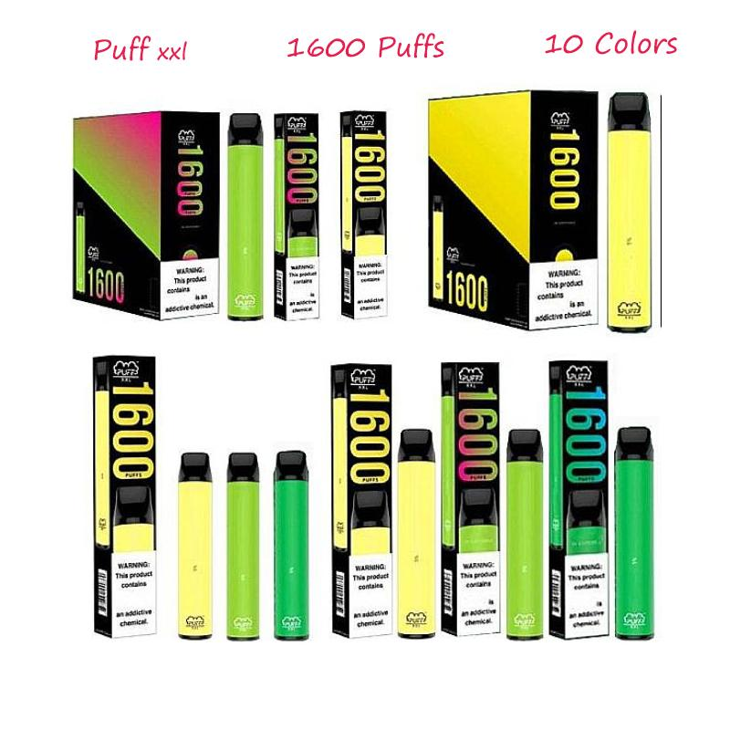 1600 Puffs Puff XXL Disposable Pod Device 6.5ml Capacity Perfect Device with Security Code Free shipping PK Ezzy air ,Puff plus