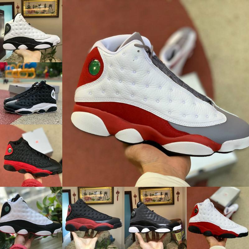 Die New Günstige New Reverse-He Got Game 13 13s Mannbasketballschuhe der Männer Kappen-und Kleider gezüchtet He Got Game Black and White Sneakers Boots