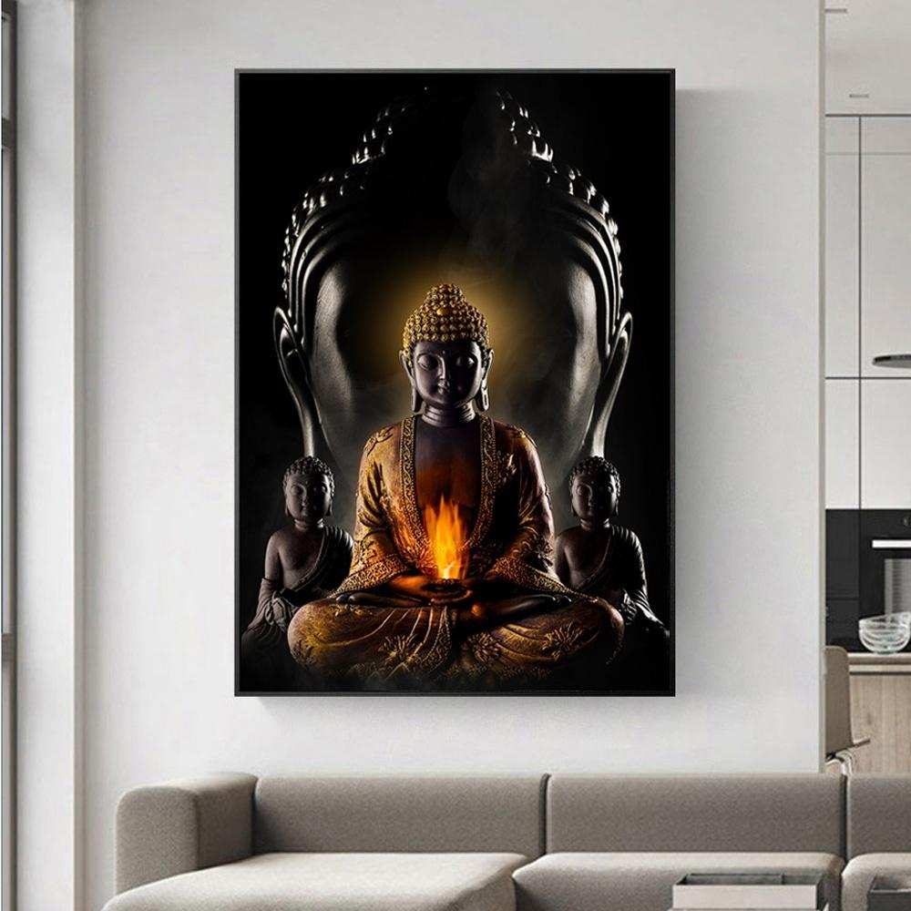Klasik Zen Lord Buda Tuval Boyama Budizm Posterler Baskılar Dini Duvar Sanatı Resimleri Oturma Odası Ev Dekorasyon Için