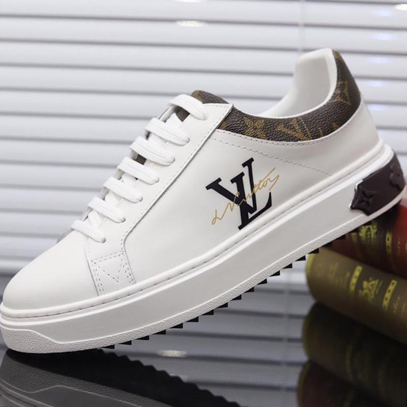 2020 Homens Sapatos de couro Big Size luxo casual com caixa original de Beverly Hills Time Out sapatilha Chaussures Pour Hommes Sapatos Masculinos Hot Sale
