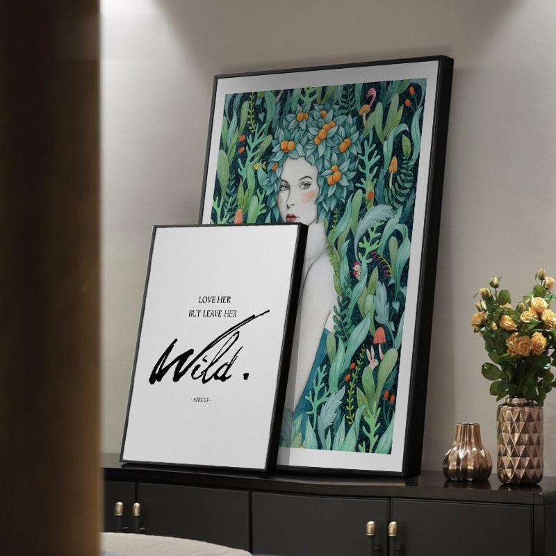 Peinture à l'huile sur toile nordique Résumé Wall Art clair Luxe filles Chambre Décoration murale Salle à manger Décor moderne restaurant mur affiches