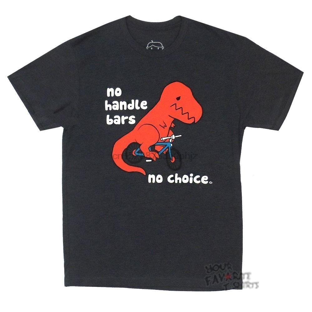 T-Rex Hayır Kol Barlar Seçim Yok Komik Lisanslı Yetişkin Tişörtlü Karikatür Tişörtlü Erkekler Moda Yeni Unisex Tişört Komik Ücretsiz Kargo