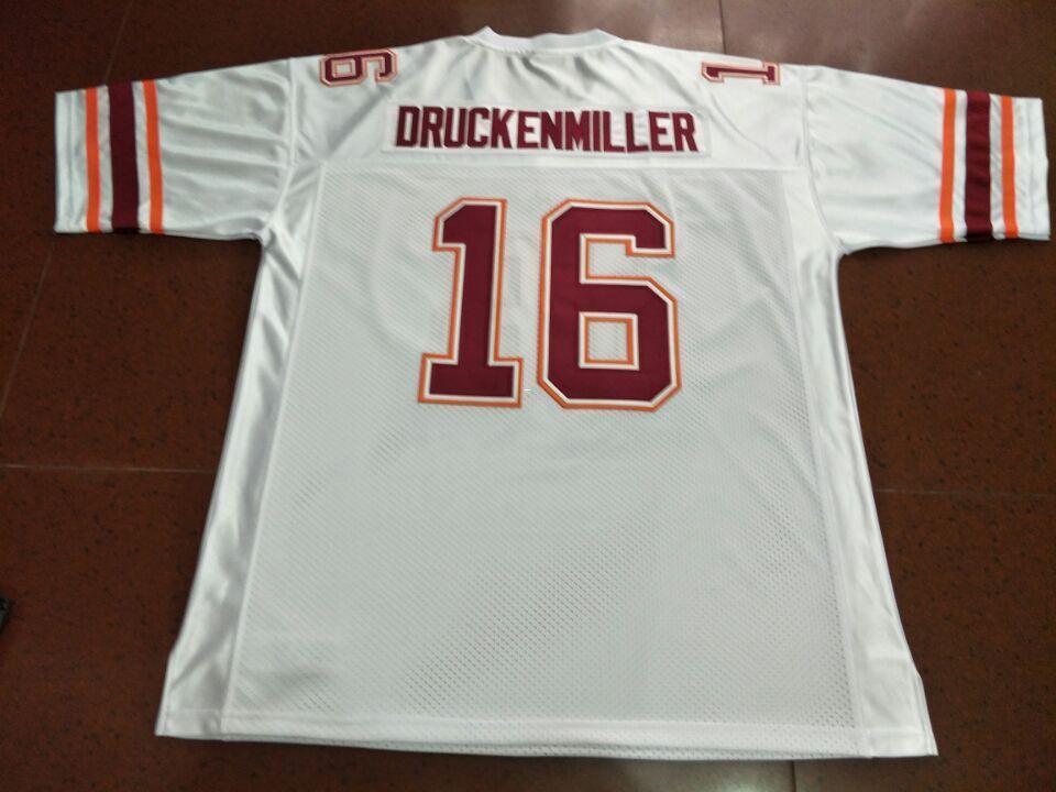 Hommes Virginia Tech Hokies 1997 Jim Druckenmiller # 16 réelle borderie College Jersey Taille S-4XL ou sur mesure tout maillot de nom ou le numéro