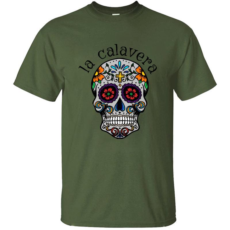 Erkekler 2020 Moda Erkekler Tişörtlü Esprili Vintage Hiphop İçin Ölü T-Shirt Of Yeni Calavera Şeker Kafatası Meksika Kültür Günü