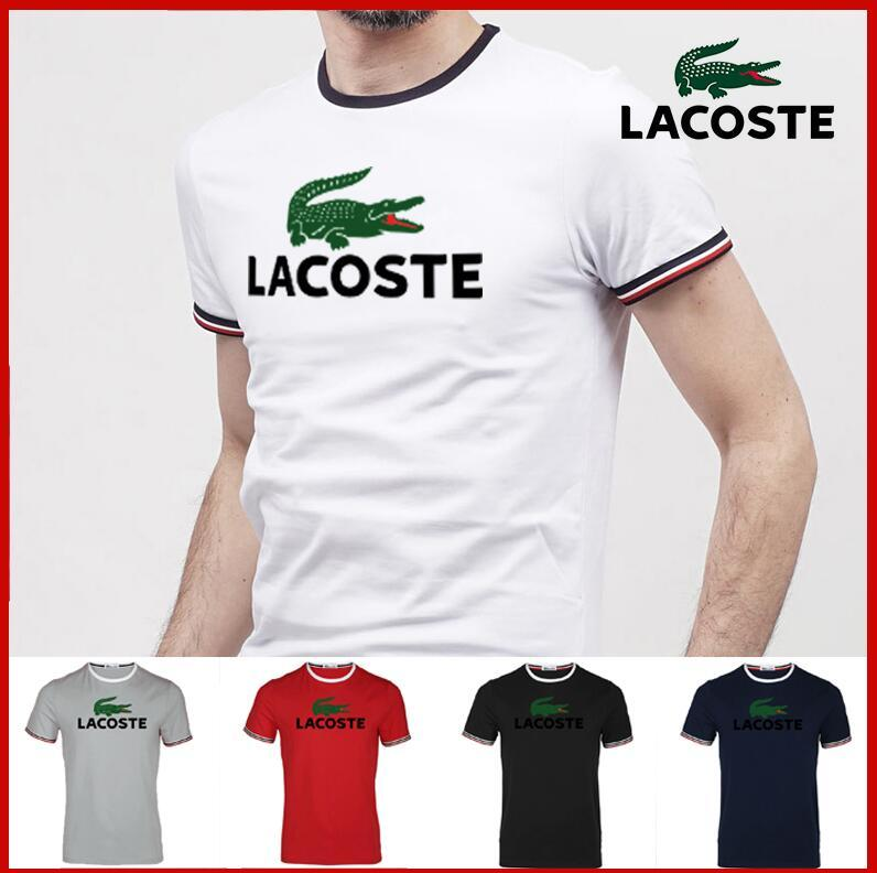 Mens summer polo t shirt fashion Embroidery Shirt Short Sleeves Tops Turn-down Collar Polo Clothing Male Fashion Casual Polo L̴acoste