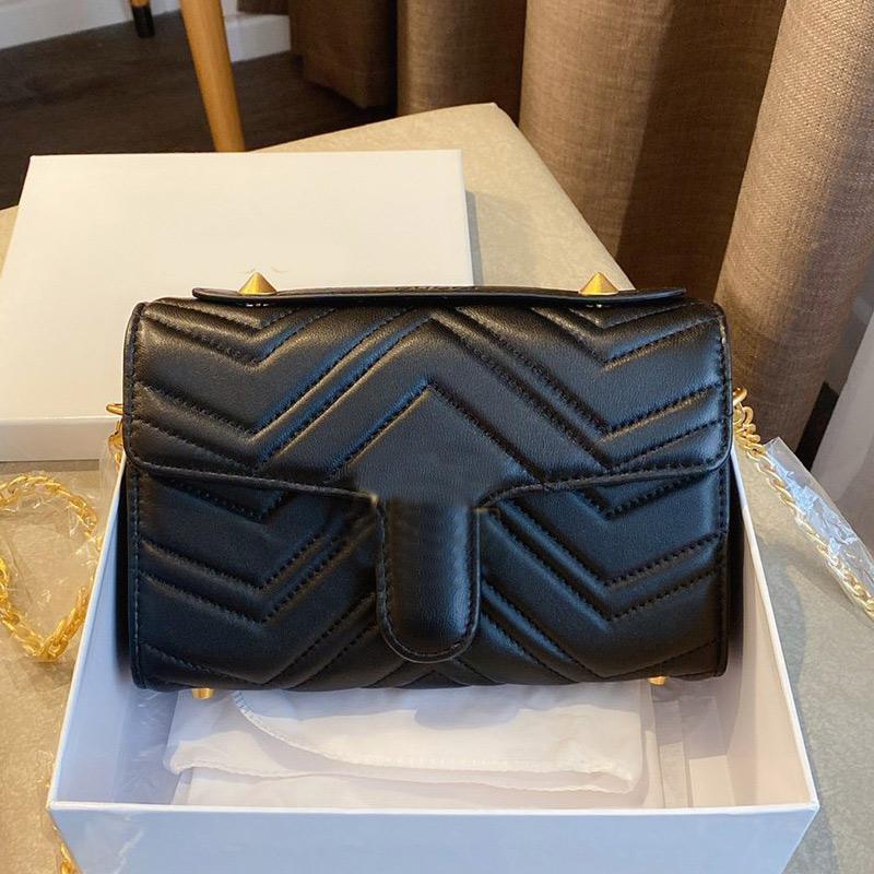Haute Qualité New Style Femmes Sacs à bandoulière chaîne sac à bandoulière en cuir coeur Sacs à main Sac Messenger Porte-Monnaie Portefeuille Noir en cuir véritable