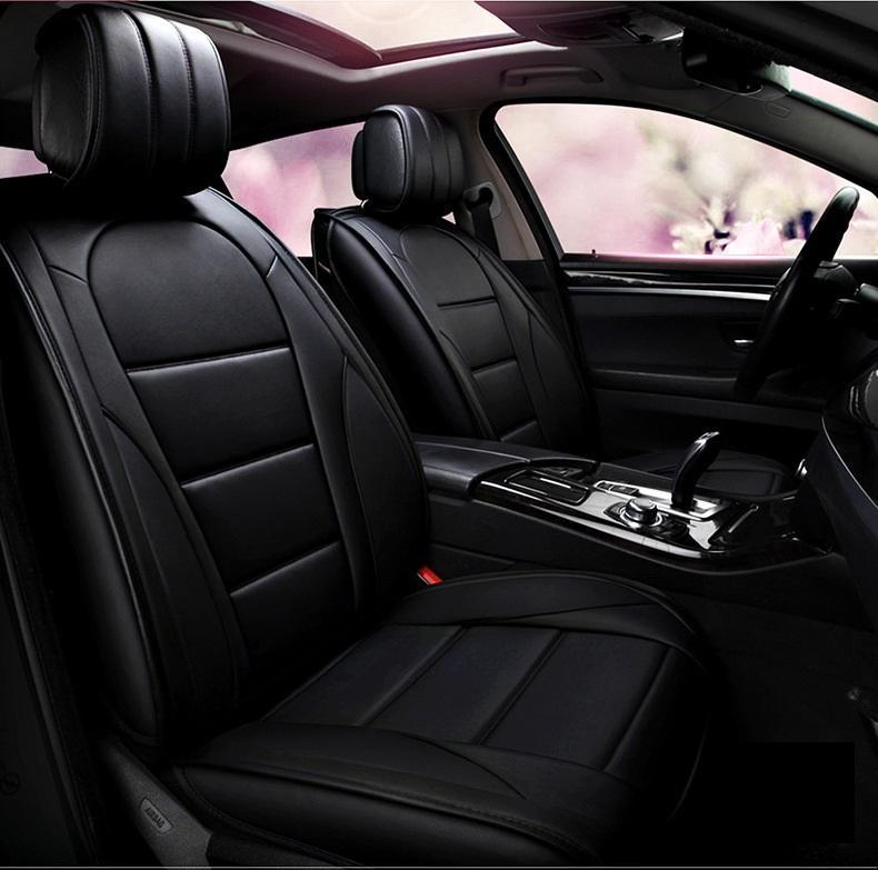 Beş İçin Honda Lexus Nissan MİNİ Volvo Kia Hyundai Dayanıklı PU Deri İçin Evrensel Fit Oto Koltuk Örtüleri Kamyon 02 korkuluklar olmadan SUV Koltuklar