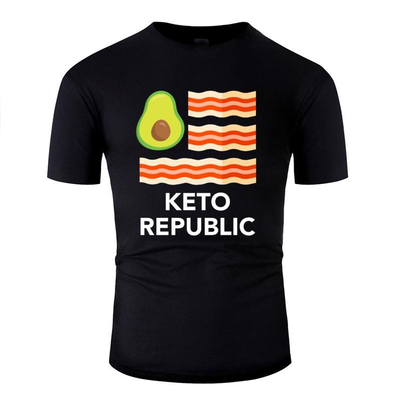 Designs régime céto Comical cétogène avocats de bacon de nourriture drôle été homme t-shirt hommes Kawaii tshirt col rond hip hop