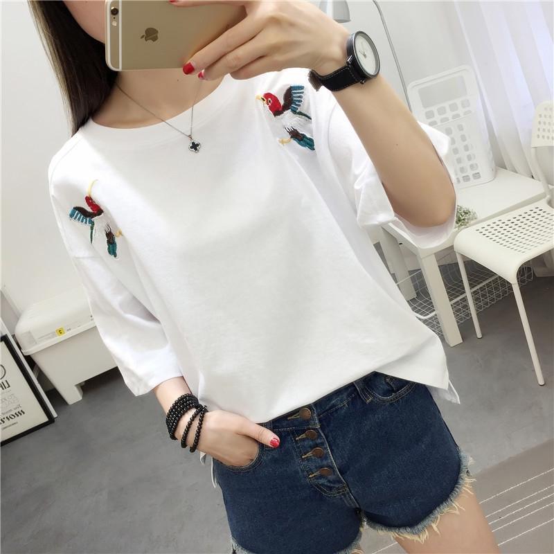 dVN5O zgQqr сезон 2020 новый T- студент женщин летом с коротким рукавом футболки кальсоны корейских женщин одежда модные трусы потерять все-ма