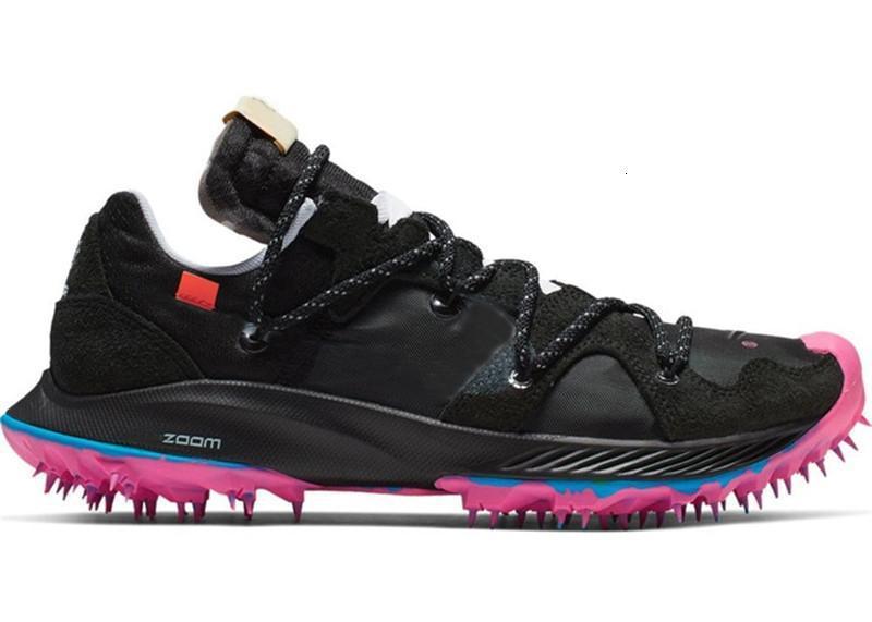 2019 Designer Off Zoom Terra Kiger 5 OW In Progress Hommes Basketball Chaussures Rose Noir Argent métallisé Blanc Explosion Baskets