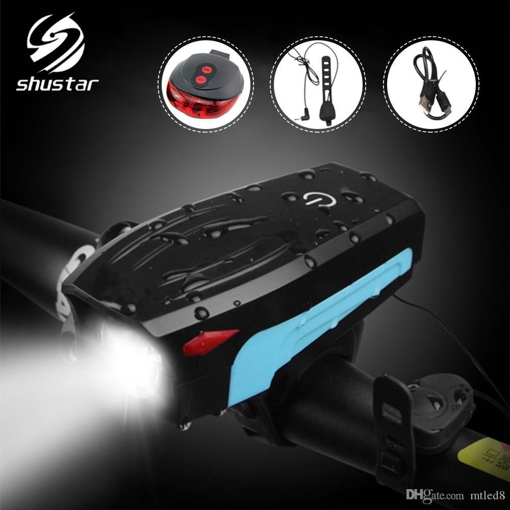 Bicycle light night riding USB charging light flashlight highlighting speaker headlights laser taillights riding night light