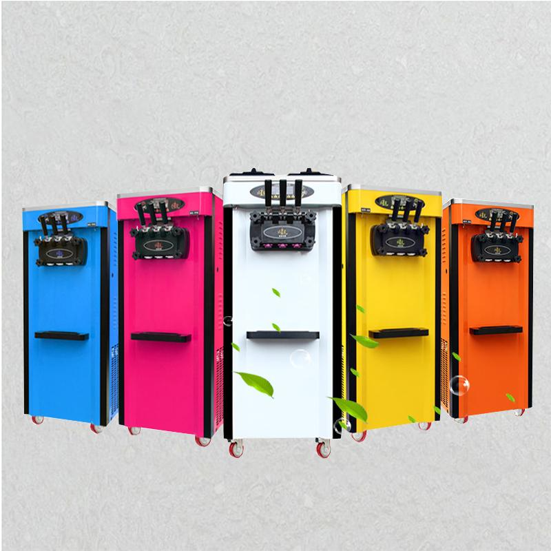 2000W Ice cream maker 3 Flavors Soft Ice cream machine 25L/H Five colors are available Stainless steel Yogurt Ice cream machine