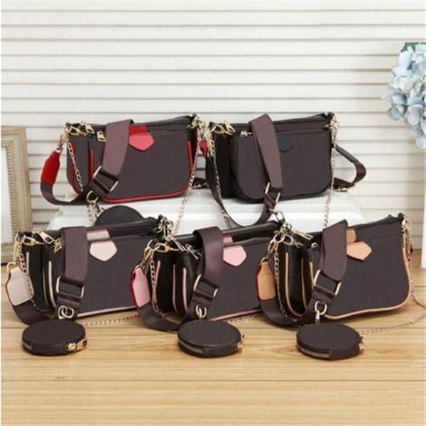 XX 2020set qulity sac classique épaule fleur cuir sac à main des femmes accessoires multi crossbody dames pochette sacs à main 3 pièces