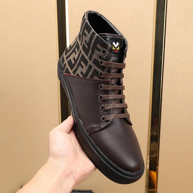 Корабль падения Легкие мужские ботинки высокого качества Мода Удобный люкс Footwears High Top Lace -До Повседневный Мужская обувь Scarpe Da Uomo Di Luss